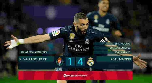 REAL VALLADOLID DIBANTAI 1-4 ATAS REAL MADRID