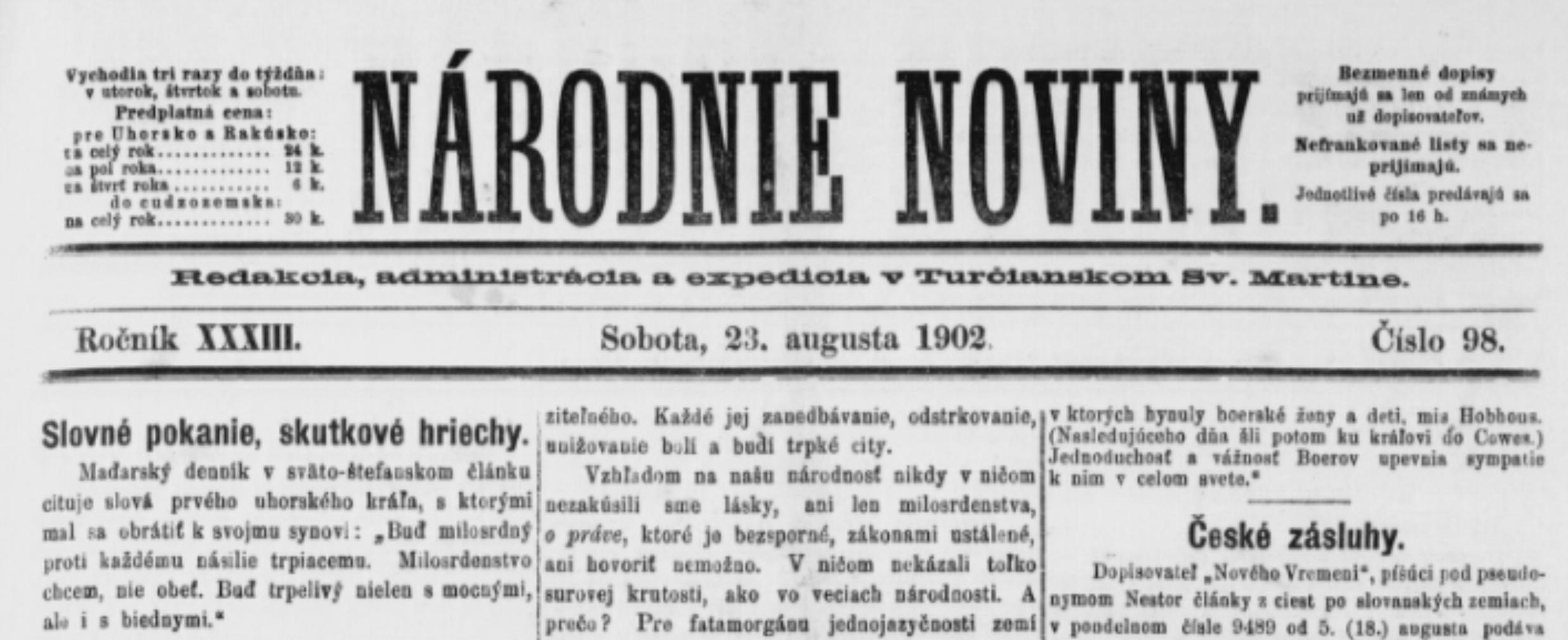 Zpráva o křtu v Pešti z roku 1902