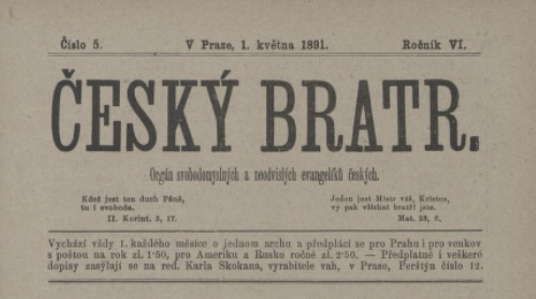 Hanebný článek na Jindřicha Novotného 1891