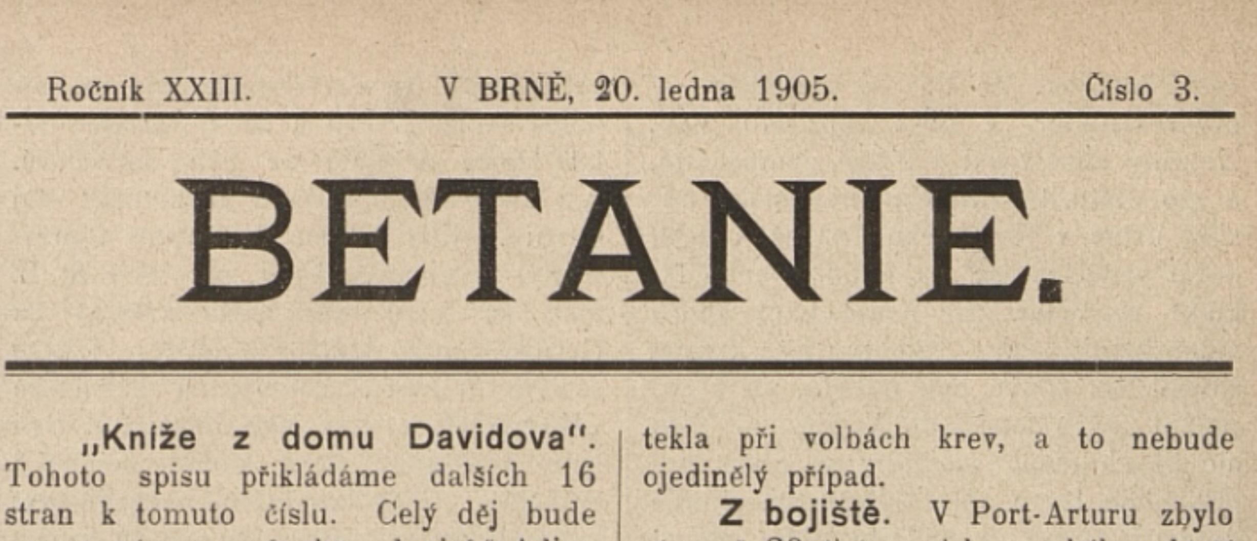 Protivenství na Gerniku misionářům ze Svaté Heleny 1905