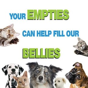 Your empties can help fill our bellies