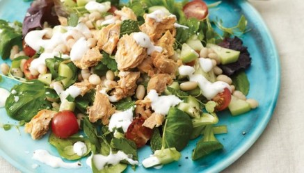 Salmon Herbed Bean Salad - Super Market Healthy