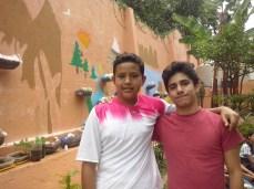 """Trabajando en el mural """"Los ecosistemas de Morelos"""""""
