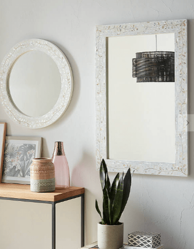 Mother of pearl wall mirror