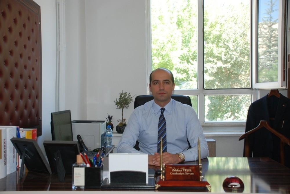 Gürün'de Cumhuriyet Savcısı Yeşil, göreve başladı