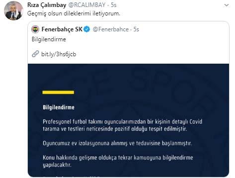 Rıza Çalımbay'dan Fenerbahçe'ye geçmiş olsun mesajı