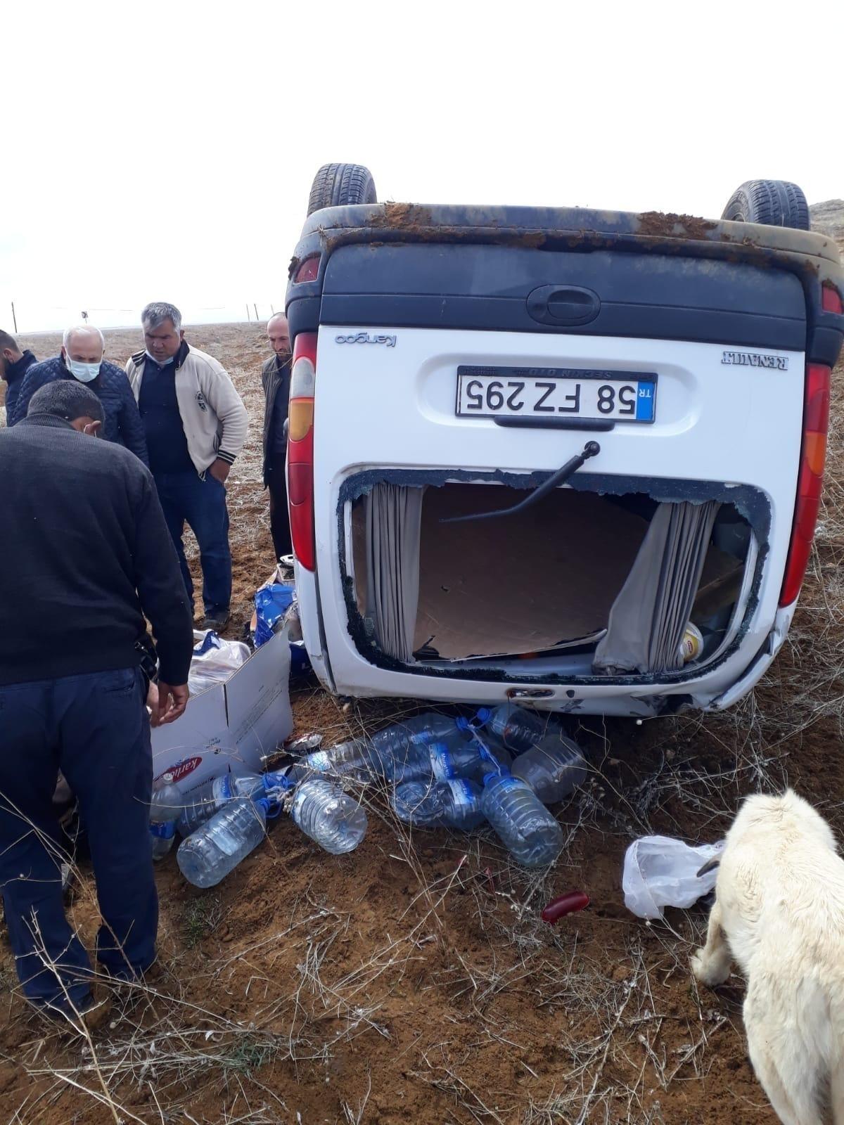 Takla atan araçta1 kişi öldü 1 kişi yaralandı