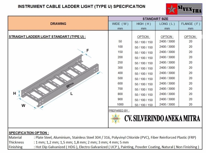 instrument cable ladder light type u