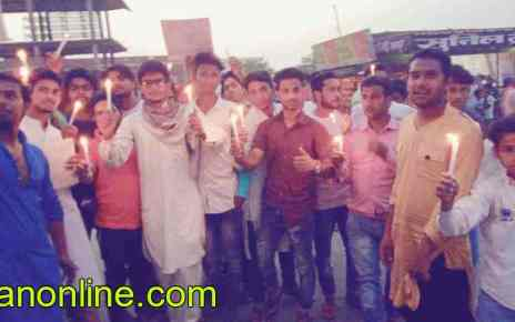 badhariya me candle march