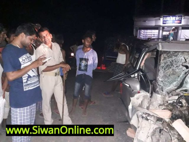 accident in siwan