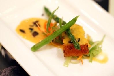 Black Italian Truffles at Conrad Centennial Singapore Oscar's - Slow-roasted Pork Belly in Truffle Gratin