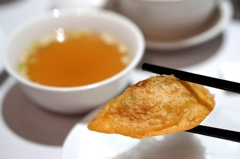 Finest Hong Kong Dim Sum at Wan Hao, Singapore Marriott Hotel - Crispy Shrimp Dumpling with Supreme Soup