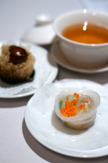 Finest Hong Kong Dim Sum at Wan Hao, Singapore Marriott Hotel - Steamed Scallop with Fungus & Vegetable Dumpling