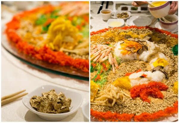 Chinese New Year 2017 at Man Fu Yuan, InterContinental Singapore - Black Truffle Yu Sheng with Deep Sea Red Crab, Silver Bait Fish and Fresh Fruits 3