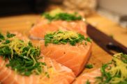 Salmon with chives and lemon from Six at 6