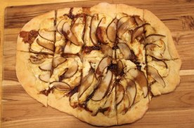 Homemade Pizza - brie, pear and balsamic
