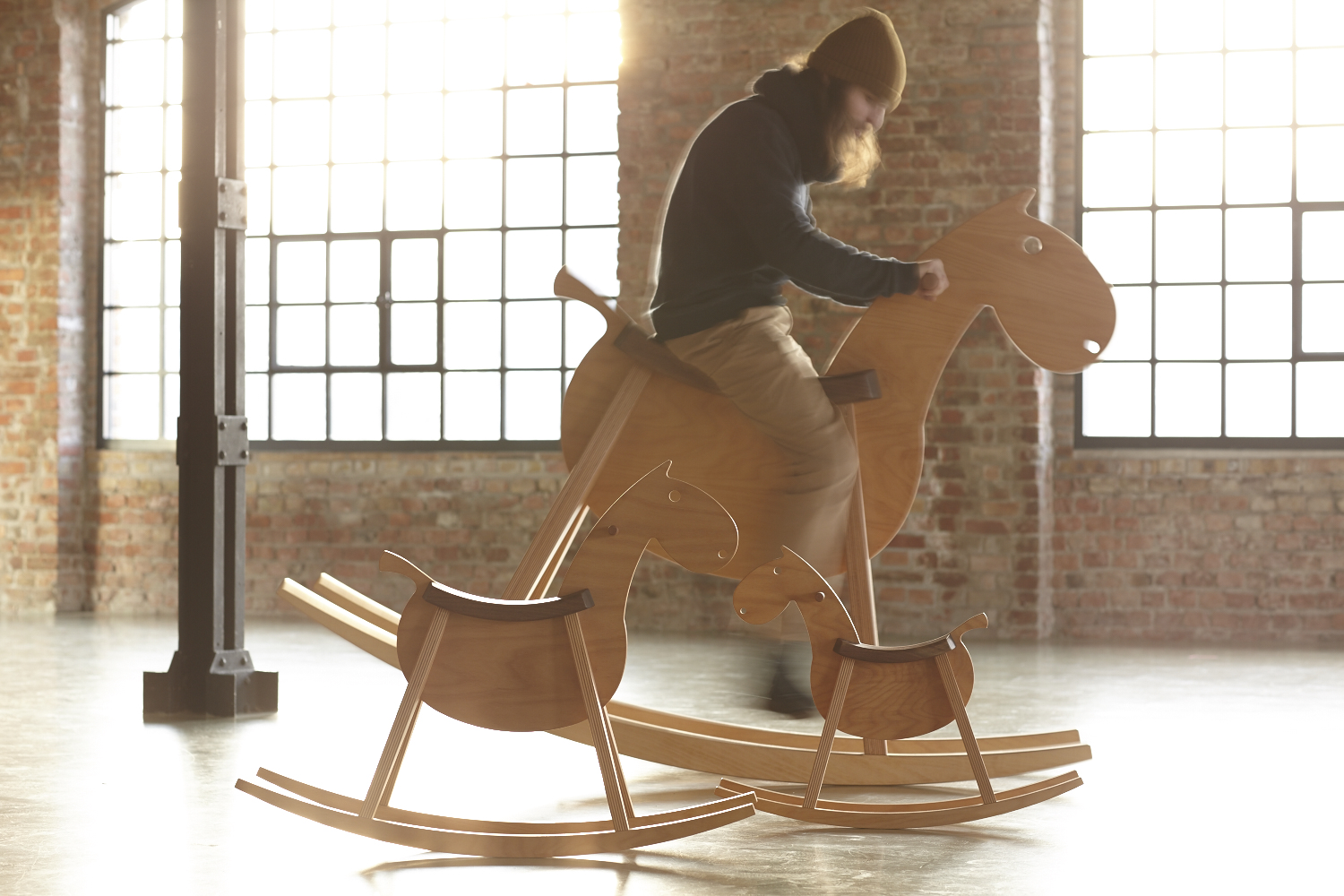 Paripa Mustang Bigkid Rocking Horse For The Child In