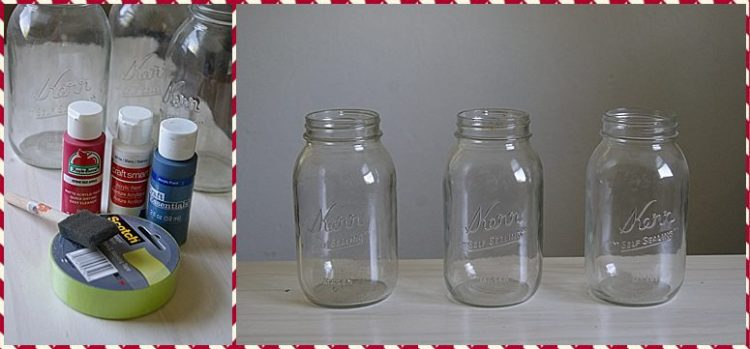 star & stripes mason jars