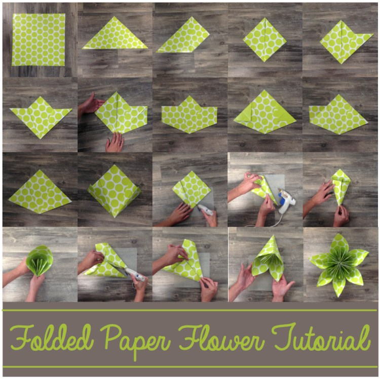 Folded Paper Flower Tutorial Party Shower And Wedding Decor