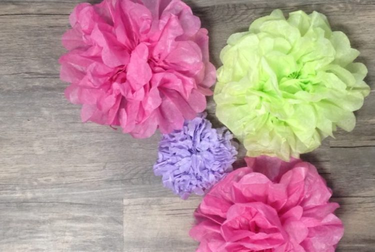 quick and easy tissue paper flower tutorial