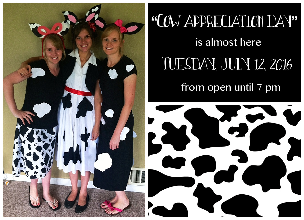 photo relating to Cow Costume Printable known as Chick-fil-As Cow Appreciation Working day Principle With Free of charge Printable