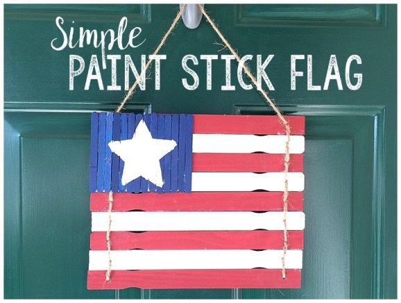 Simple Paint Stick Flag