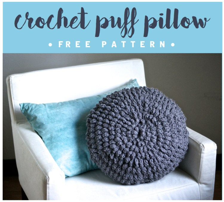 Crochet Puff Pillow Free Pattern