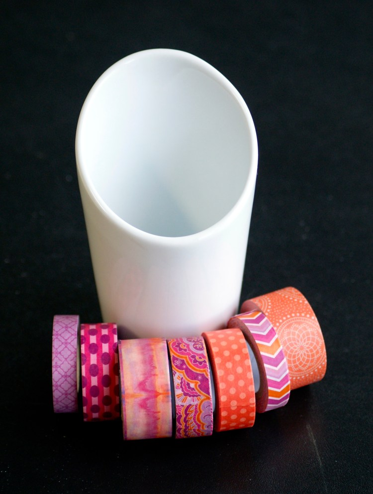 DIY Washi Tape Utensil Holder