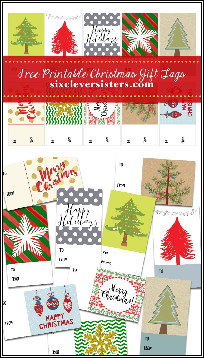 FREE PRINTABLE CHRISTMAS GIFT TAGS - Six Clever Sisters