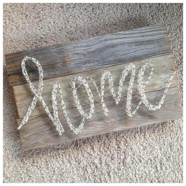 string art tutorial DIY home decor pallet sign