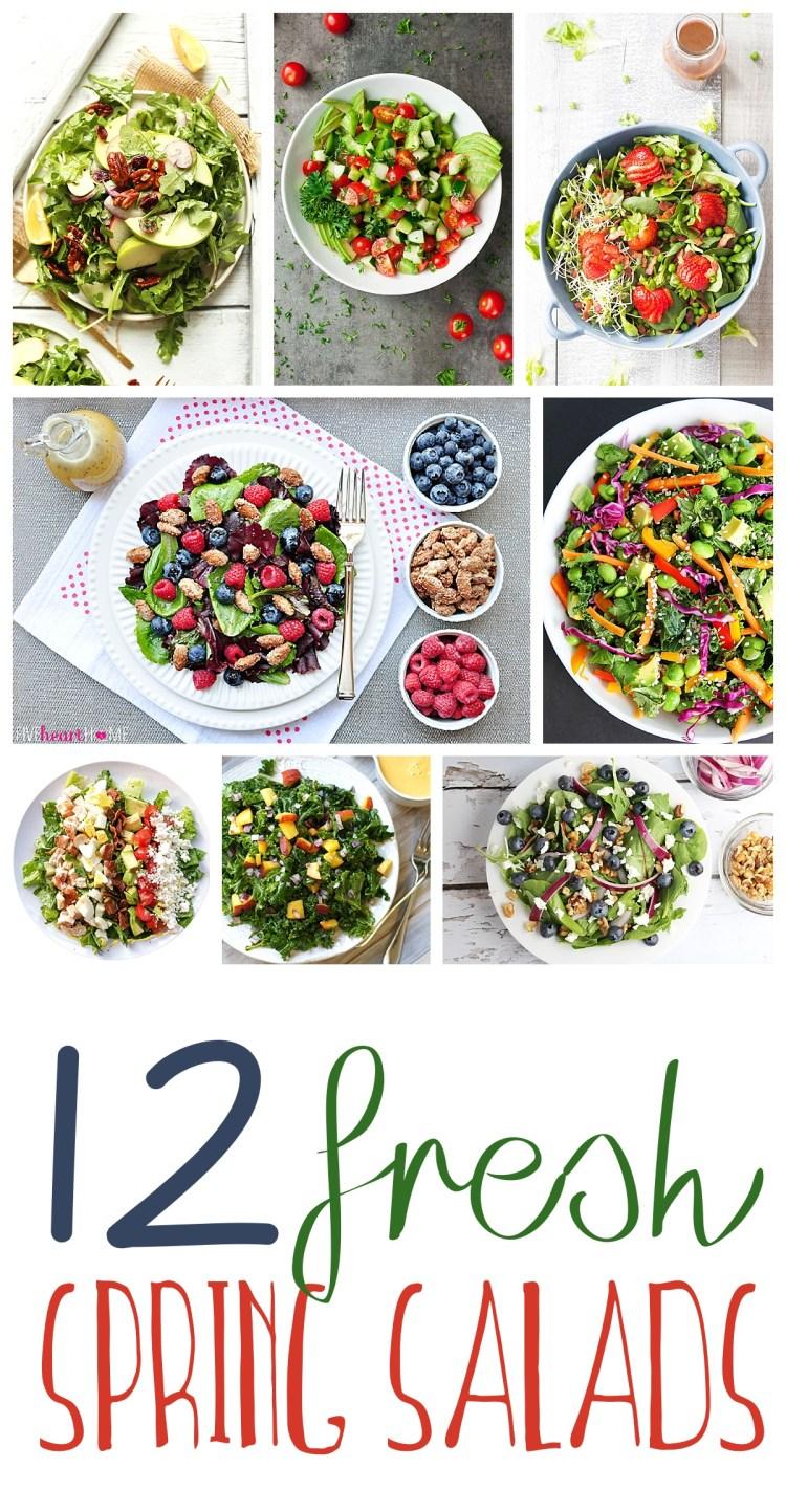 Spring Salad Recipes | Healthy Recipes | Salad Recipes | Strawberry Spinach Salad | Best Salad Recipe | Vegan Recipes | Healthy Recipes | Healthy Meals | Salad Ideas | Easter Recipe Ideas | Easter Ideas