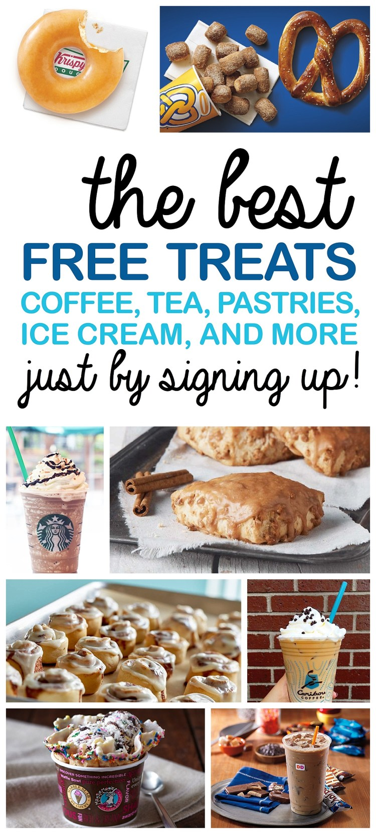 Free Food   Sign Up for Free Food   Email Sign Up Deals   Restaurant Treat Deals    Deals 2017   Free Treats   Birthday Freebies   Did you know that you can be rewarded with free food just be signing up for their emails? We at Six Clever Sisters love ALL these amazing #freebies! Head on over to the blog to find out all the best free treats!