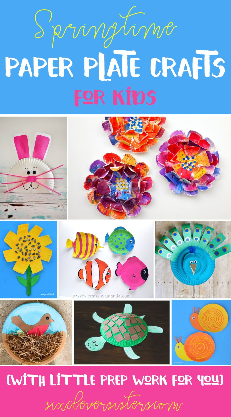 spring time paper plate crafts for kids  with little prep