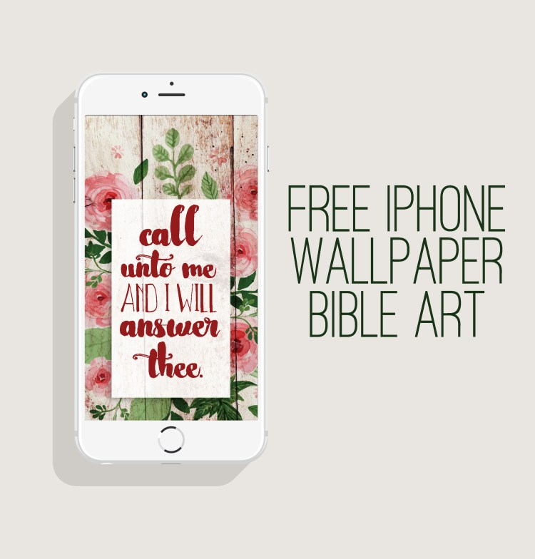 Vintage Floral Barnwood Free iPhone Wallpaper | Love these free downloadable Bible art phone lock screens / wallpapers at Six Clever Sisters! | KJV Art Printables | Scripture Verse Art