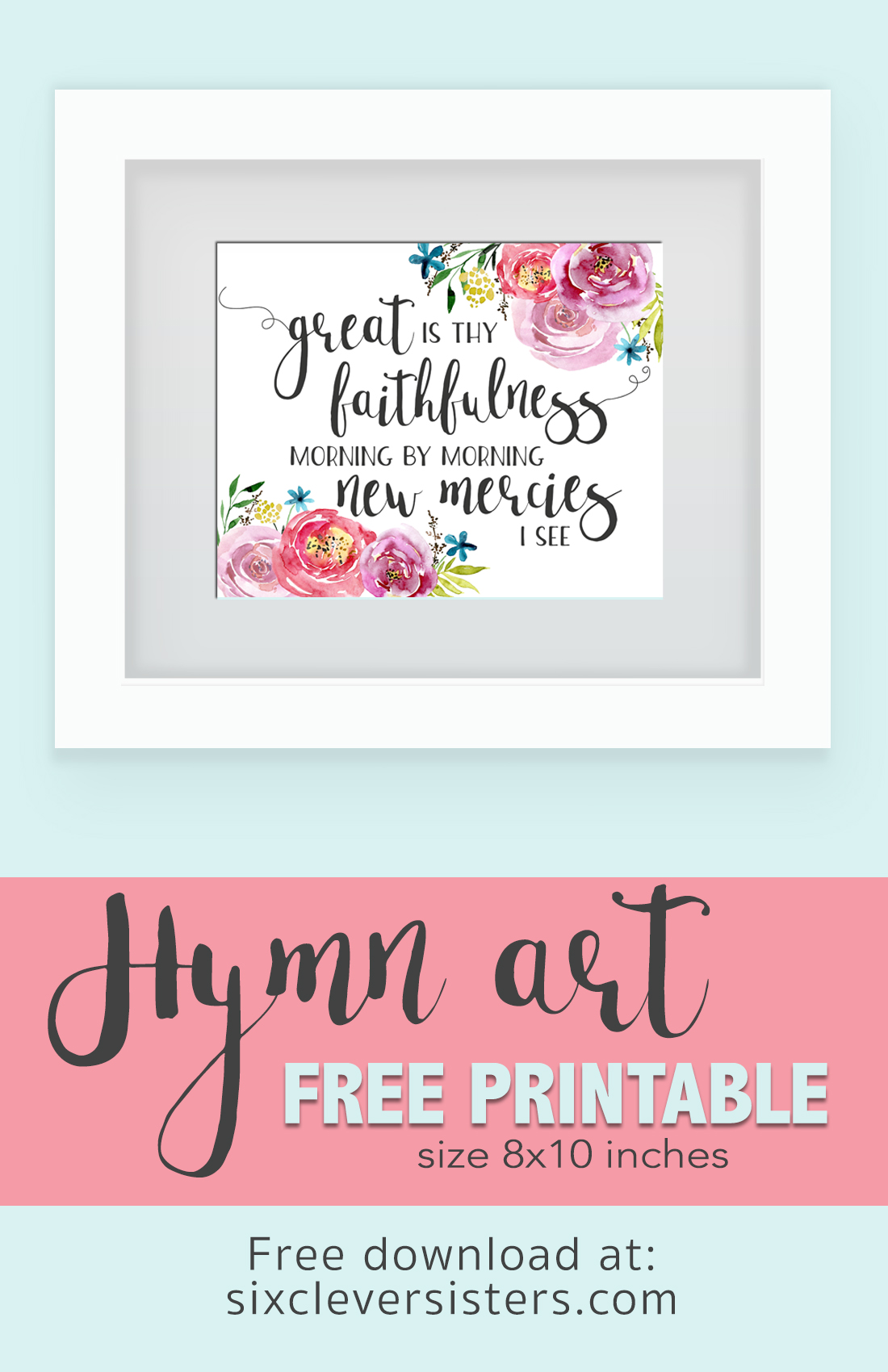 graphic regarding Printable Hymns named No cost Printable Hymn Artwork: Superb Is Thy Faithfulness - 6