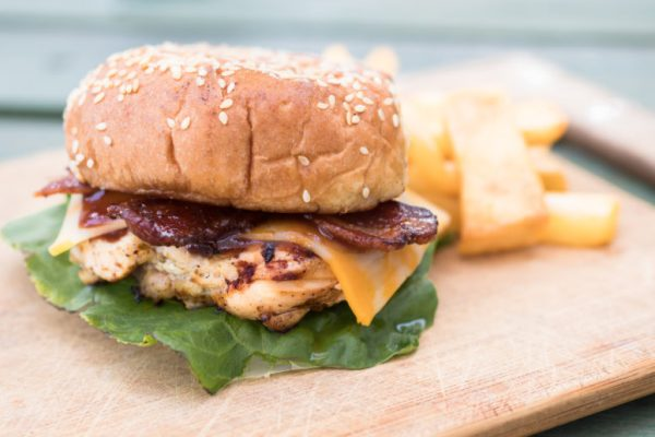 Chick Fil A Copycat Grilled Chicken Smokehouse BBQ Bacon Sandwich   Copycat Chick Fil A Chicken Recipes   Grilled Chicken Recipe   Brown Sugar Bacon   Summer Picnic Food   Labor Day Recipe   Grilled Food