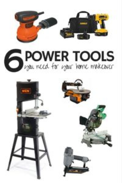 Home Makeover | DIY Home | Power Tool | How-to Renovate | Home Renovation | Here is a list of 6 power tools you absolutely need to renovate your home! SixCleverSisters.com