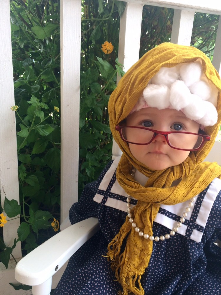 Old Lady Halloween Costume | Old Lady Costume Baby | Old Lady Costume | Easy Halloween Costume for Kids | Quick Halloween Costume