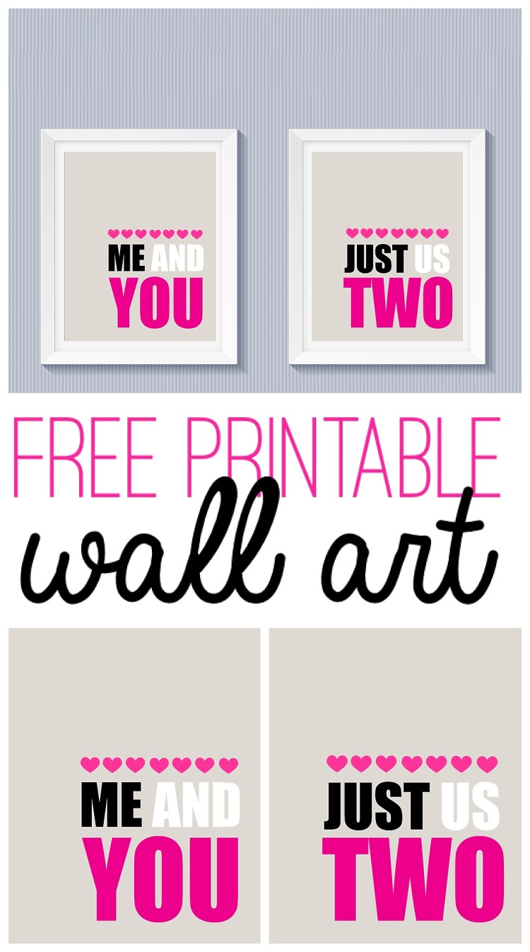 Free Printable Valentines Day Wall Art Six Clever Sisters
