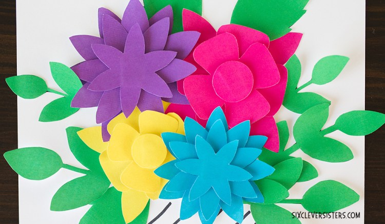 Pretty paper flowers free printables six clever sisters paper flowers paper flower template printable flowers printable flower template mightylinksfo