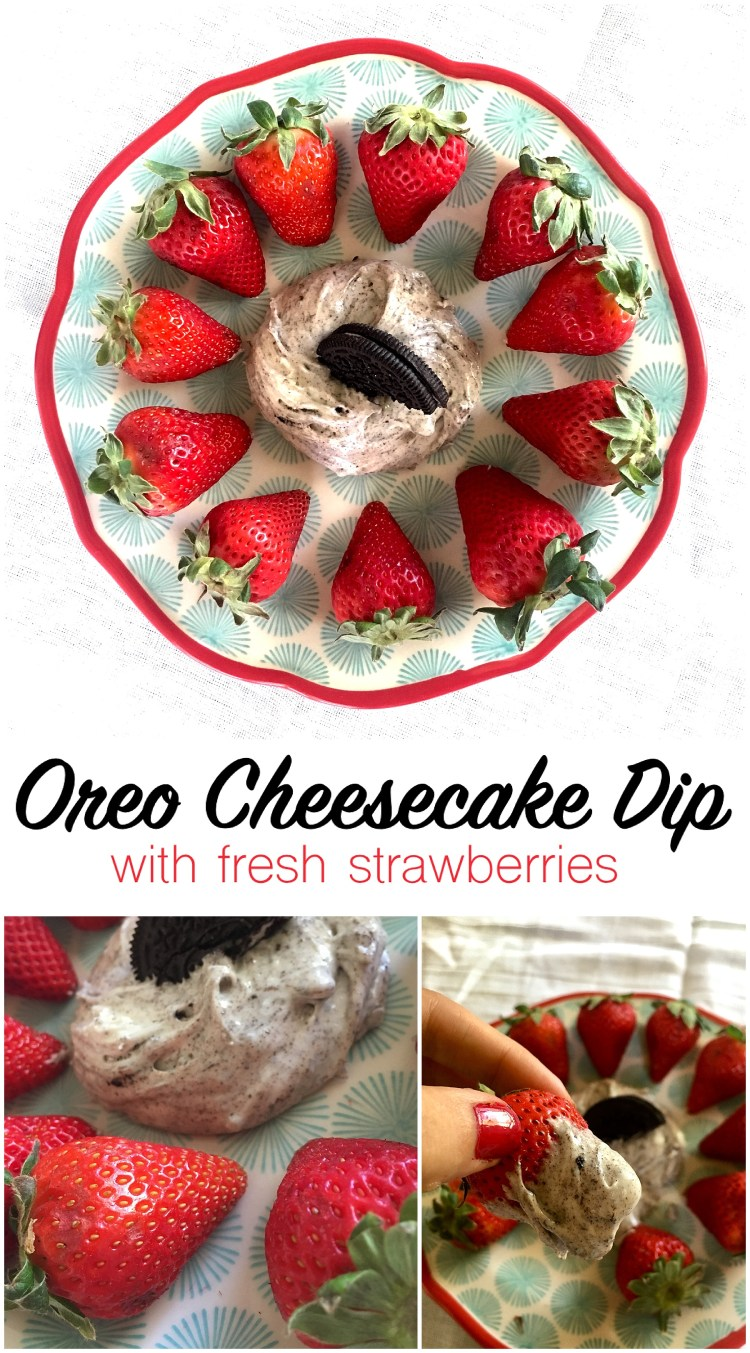 Oreo Cheesecake Dip with Fresh Strawberries | Oreo Fruit Dip | Cream Cheese Fruit Dip | Oreo Desserts | Summer Dessert Recipe | Fruit Dip Recipe | Fresh Fruit | Summer Food | Picnic Food | Picnic Recipes | BBQ Recipes | Summer Ideas