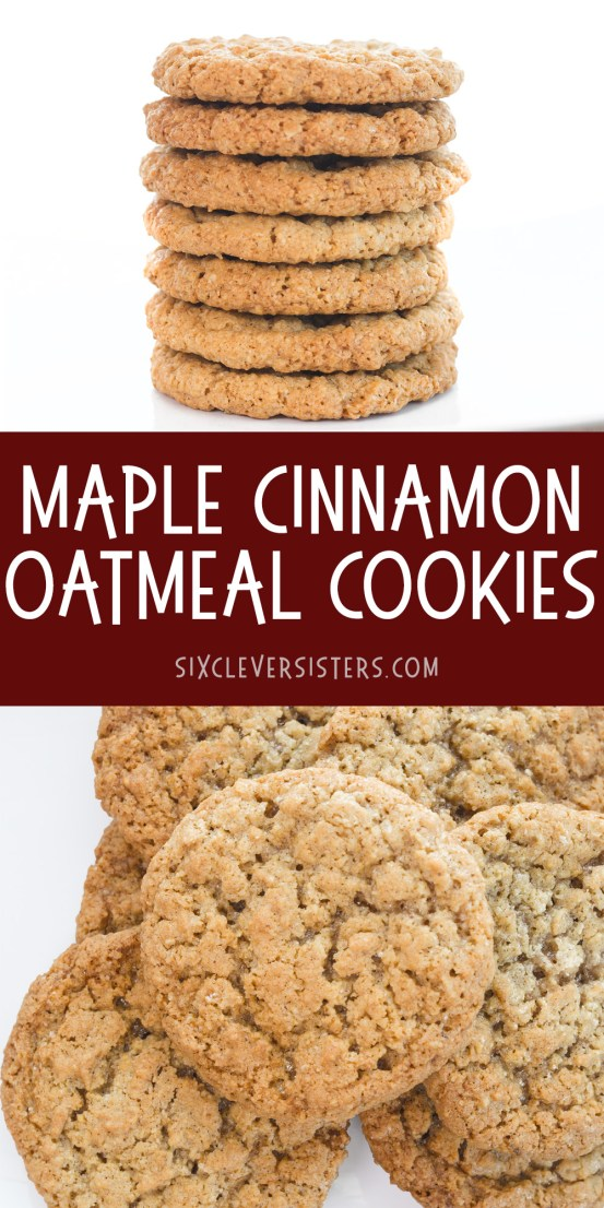 Maple Cinnamon Oatmeal cookies | Oatmeal Cookies | Oatmeal Cookies Easy | Oatmeal Cookies chewy | Maple Cinnamon | Oatmeal Recipes | Oatmeal Cookies Calories | This delicious recipe from Six Clever Sisters tastes like Quaker's maple cinnamon instant oatmeal!