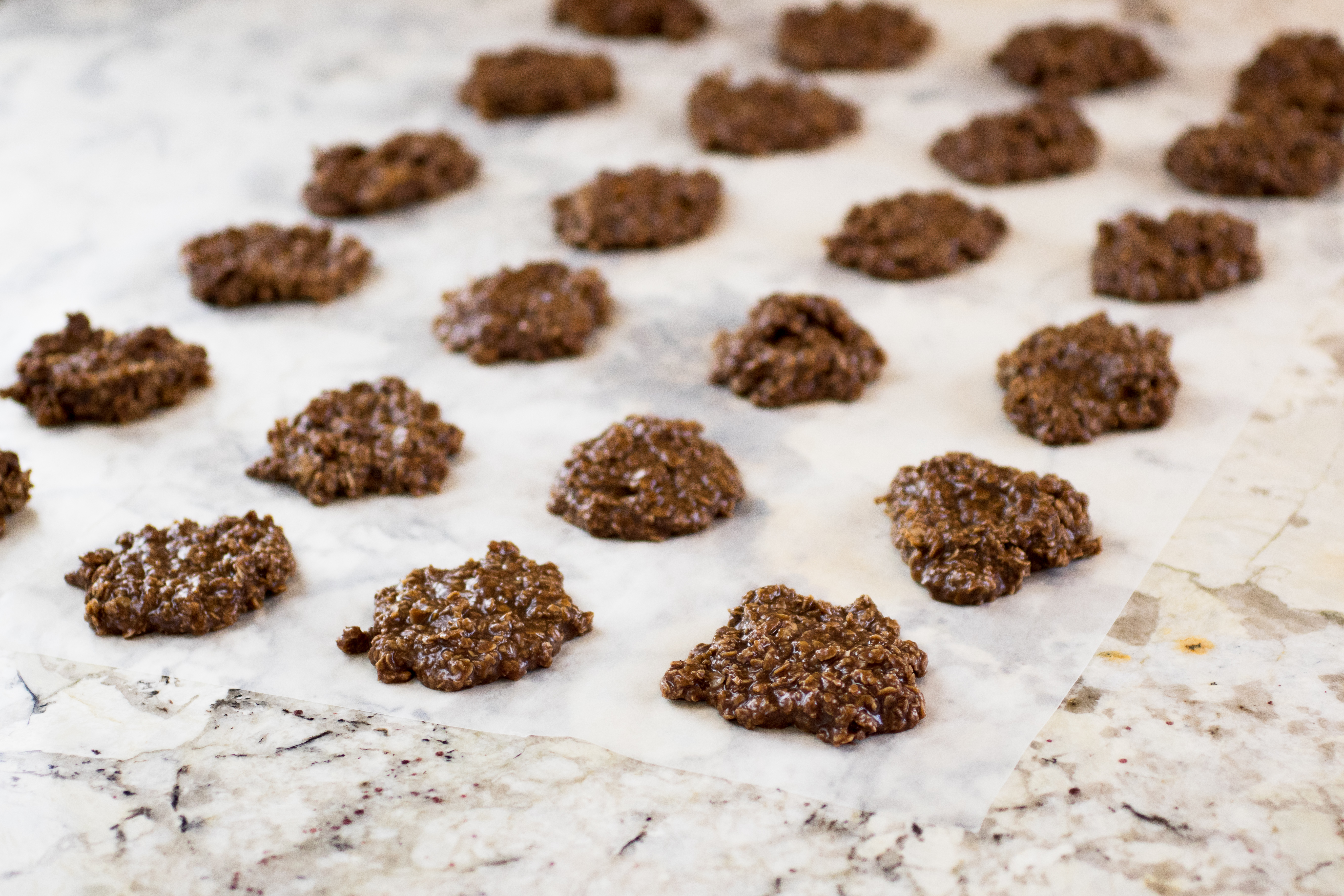 No Bake Chocolate Oatmeal Cookies Six Clever Sisters