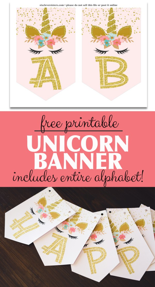 It is a graphic of Lucrative Free Unicorn Birthday Printables