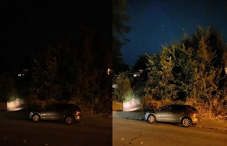Night mode comparison