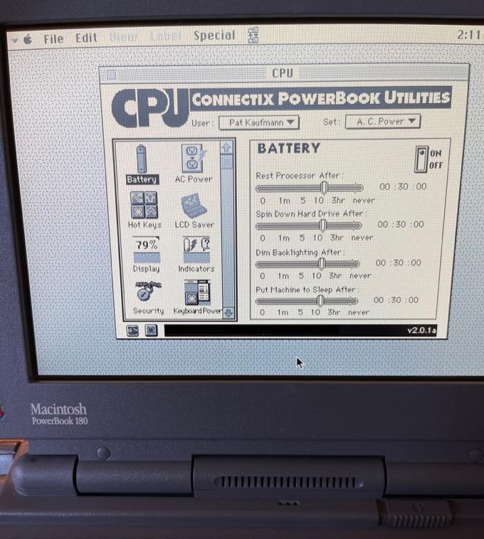 Connectix PowerBook Utilities