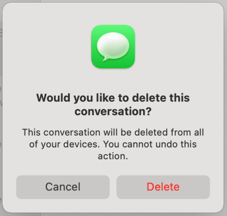 Delete conversation