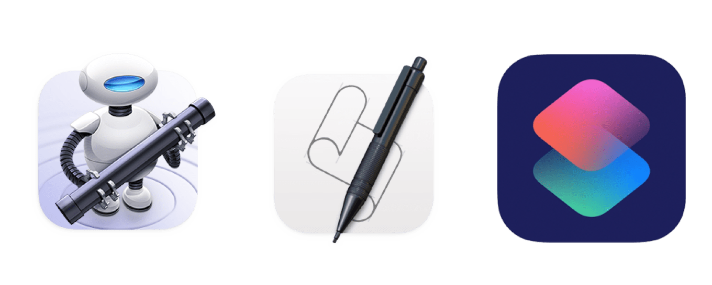Automator, Script Editor, and Shortcuts
