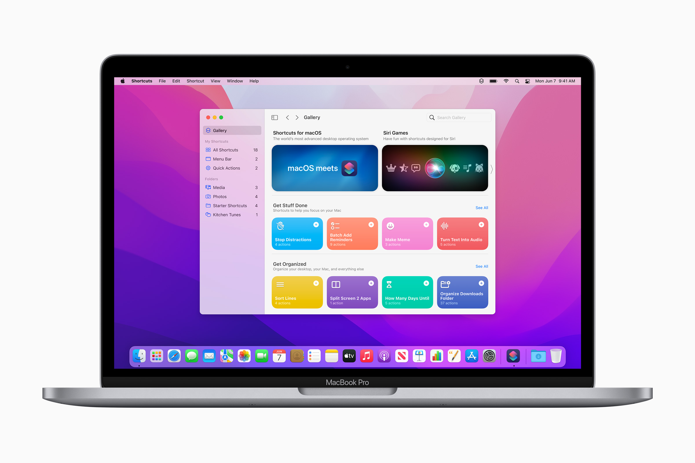 Shortcuts on the Mac, at last.