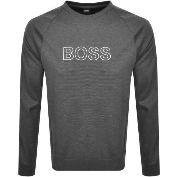 BOSS Bodywear Crew Neck Sweatshirt Grey